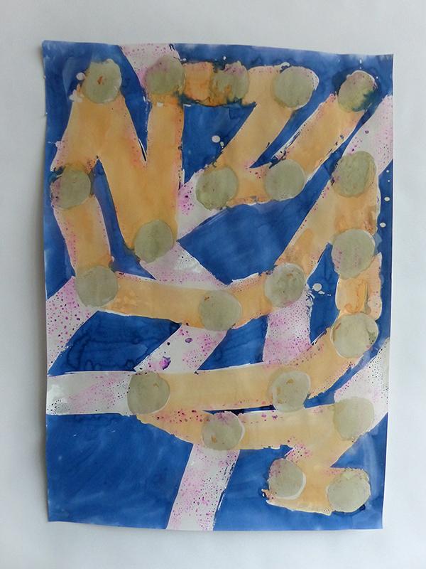 wax resist painting